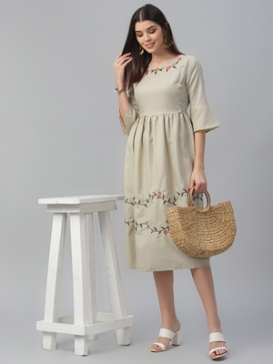 South Cotton Embroidered Dress