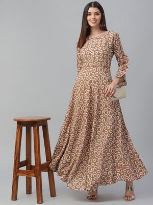 Rayon Floor Length Dress