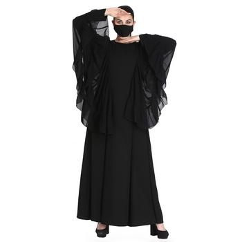 Designer Abaya With Bell Sleeves