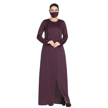 Modest Dress With Front Slit- Not An Abaya.