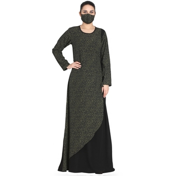 Modest Dress In Animal Print- Not An Abaya.