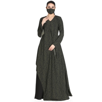 Modest Dress With Designer Cuts- Not An Abaya.