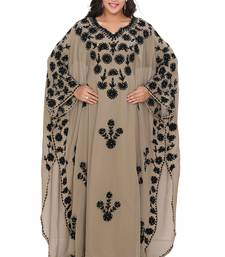 Moroccan Dubai Kaftan Evening Royal Show in Image Georgette dress  Aari Stone Work