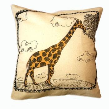 Giraffe Chap cushion cover