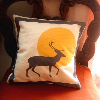 Deer Silhouette Cushion Cover