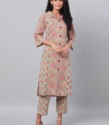 Myshka Women's Multi Printed Full Sleeve Cotton Shirt Coller Casual Kurta &  Palazzo Set