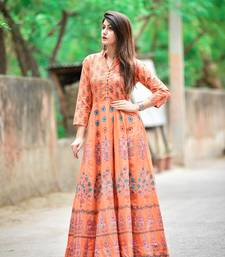 women cotton full length anarkali kurti || 100% cotton anarkali kurti