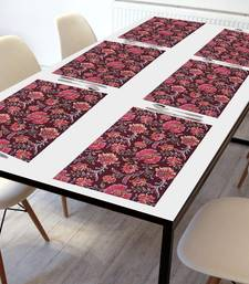 Texstylers Washable 100% Cotton Placemats Set of 6 Dining Table Place Mats