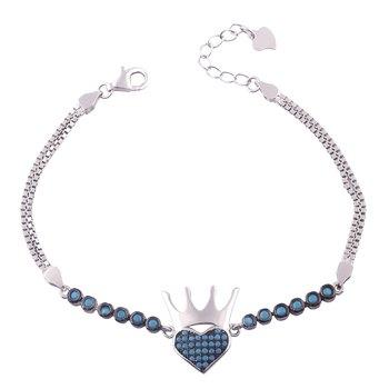 Queen Silver Adjustable Bracelete-BR052
