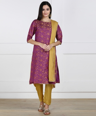 SWAGG INDIA Womens Wear Banarsi Brocade with Pent and Duppata set