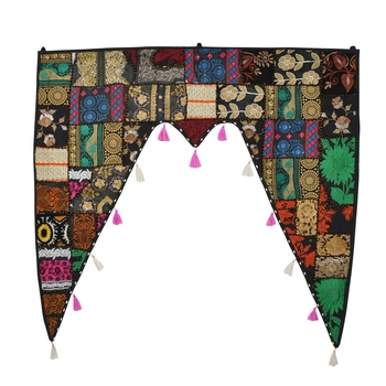 Home Decorative Cotton Hand Embroidery Bohemian Style Door Valances Door Decor