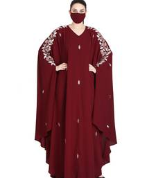 Mushkiya-Irani Kaftan With Floral Zari Work