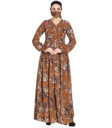 Mushkiya-Modest and Pretty Dress Made In Printed Georgette