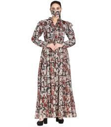 Mushkiya-Modest and Pretty Dress Made In Printed Chiffon