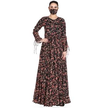 Mushkiya-Fairy n Flowy Dress Made In Printed Chiffon Fabric.