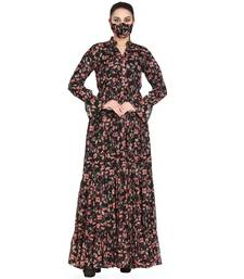 Mushkiya-Beautiful Printed Dress In Chiffon Fabric With Extra Flare.