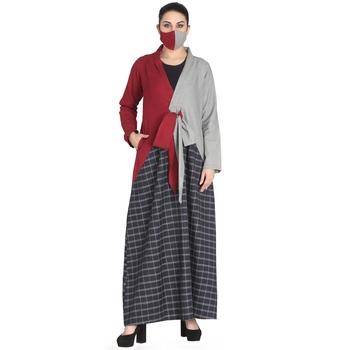 Mushkiya-Multi Colored Dress Made In Poly Cotton Fabric
