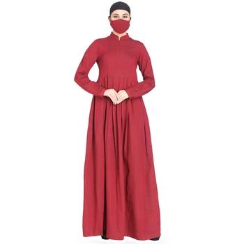 Mushkiya-Modest Dress In Abaya Fit Made In Cotton Fabric