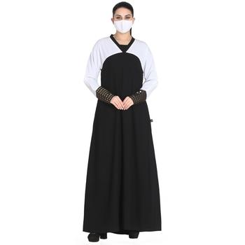 Mushkiya-Abaya Fit - Dress In Dual Color.