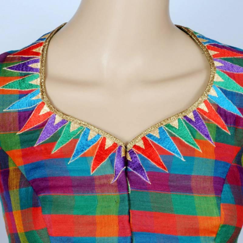 Buy Multicolor Kalamkari Readymade Blouse Online