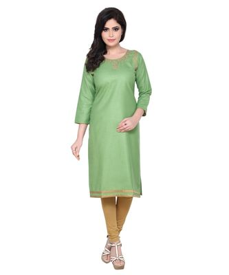 Kasab Neck Embroidered Kurti