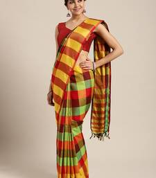Green woven uppada silk saree with blouse