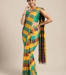 Purple woven uppada silk saree with blouse