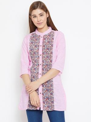 Pink printed cotton tunics