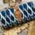 Blue Colored Handblock Printed Designer Comfy Wallet