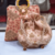 Light Pink Colored Sequin Worked Pearl Chained Potli Bag With Handbag