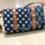 Navy Blue Colored Handblock Printed Sling Bag With Belt