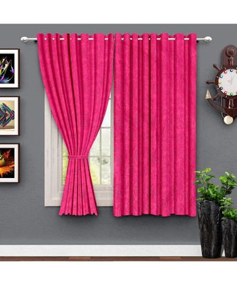 A Magenta Polyester Window and Shower etc Curtain