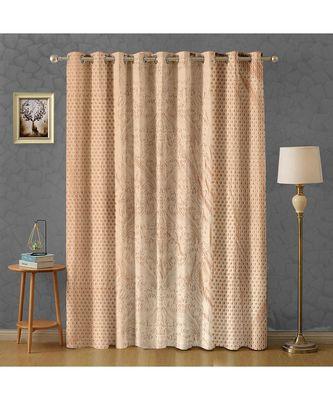 A Cream Printed  Polyester Window,Door etc Curtain