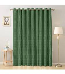 A dark green Printed  Polyester Window,Door etc Curtain