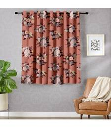 A Peach Printed Polyester Window,Shower etc Curtain