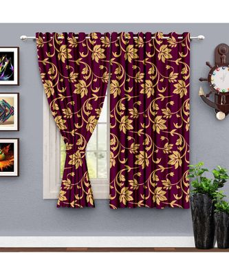 A wine Printed  Polyester Window,Shower etc Curtain