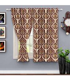 A Cream Printed  Polyester Window,Shower etc Curtain