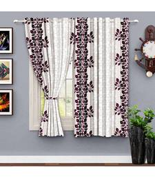 A Maroon Printed Polyester Window,Shower etc Curtain