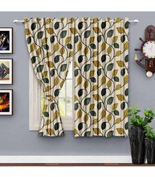 A Beige Printed Polyester Window,Shower etc Curtain