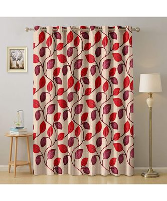 A Red Printed  Polyester Window,Door etc Curtain