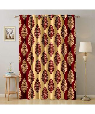 A Maroon Printed  Polyester Window,Door etc Curtain
