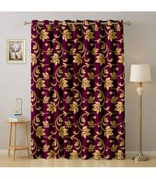 A Wine Printed  Polyester Window,Door etc Curtain