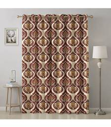 A Cream Printed  Polyester Window,Door etc Curtain