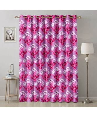 A Violet Printed  Polyester Window,Door etc Curtain