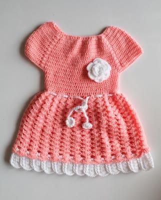Pink hand woven woolen blends kids-frocks