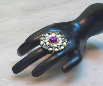 Elegant and beautiful jadu kundan ring