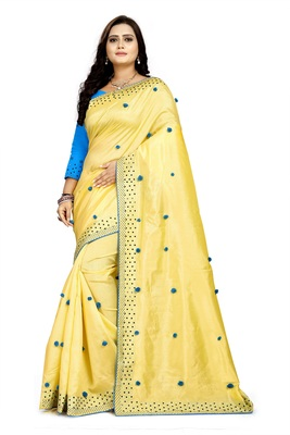 New Designer Paper Silk Fabric saree
