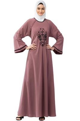 MRC Women's Embroidered Abaya With Hijab