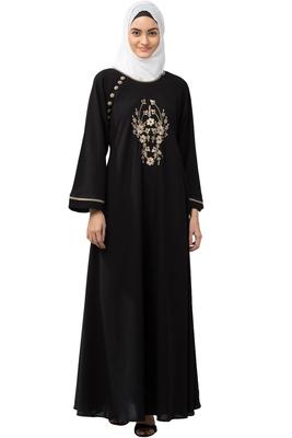MRC Women Embroidered Abaya With Hijab