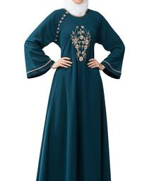 MRC Women Embroidered Abaya With Hijab